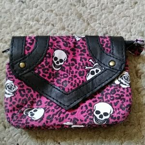Skull mini coin purse